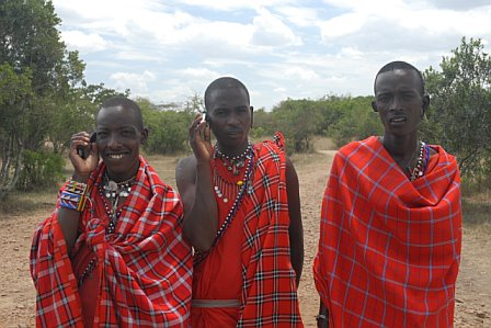 AMB Three Masai on Cell
