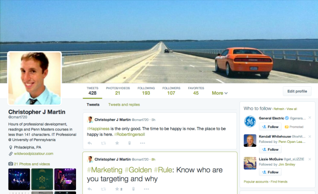 Twitter Layout After