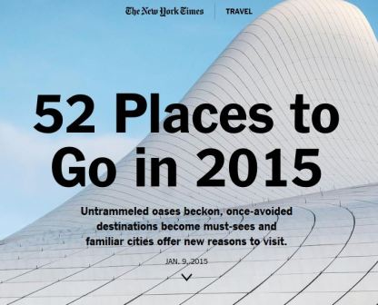 NYT Top Places to Visit