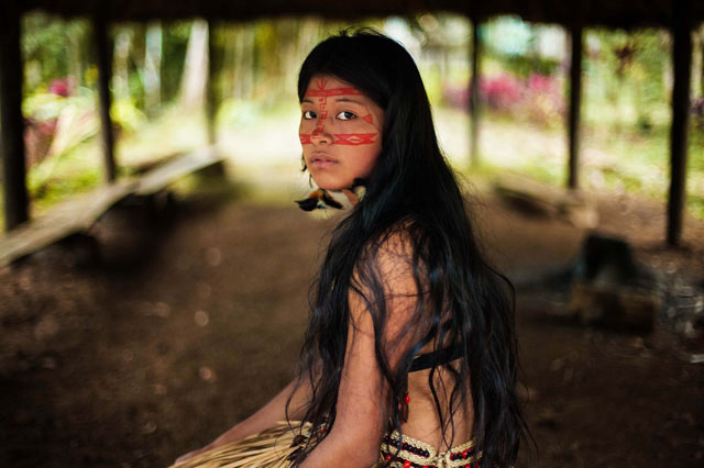 Kichwa woman in Amazon Forest