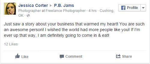 PB Jams Comment