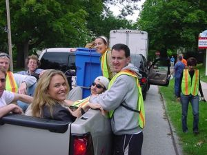 Recyclebank goes door to door for its first full city roll lout of its curbside program in Wilmington, Delaware.