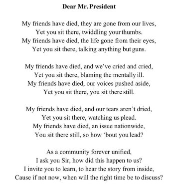 written by: Parkland Student Aly Sheehy